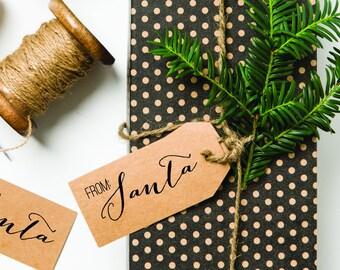 From Santa Stamp, Christmas Stamp, Santa Signature Stamp, Santa Claus Stamp, Holidays Stamp, Christmas Rubber Stamp,  (SXMAS305 - S.4)