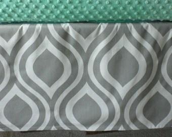 Ultra Modern Crib Skirt - Waves **Choose your Color** Custom Crib Bedding *Modern Nursery