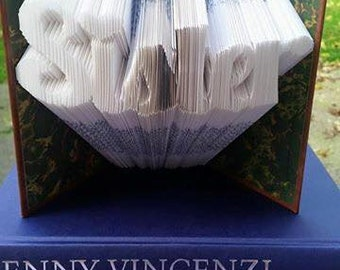 Sister Folded Book Art **Pattern**  Pdf. Book Folding Book Origami free instructions/ tutorial