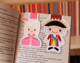 Marie Antoinette and King Louis XVI Magnetic Bookmarks | King and Queen of France