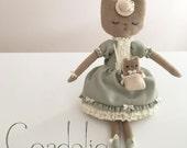 Cordelia - Handmade OOAK art doll, original character design, cloth doll