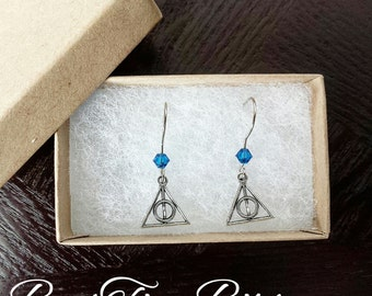 Deathly Hallow Earring | Ravenclaw | Harry Potter | Swarovski | Gifts for her