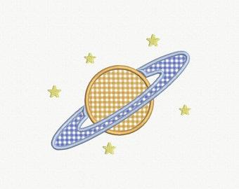 Saturn Applique Machine Embroidery Design - 1 Size