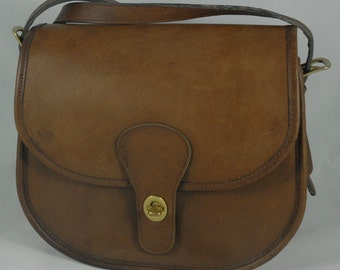 Vintage Coach Saddlery Bag in Tabac