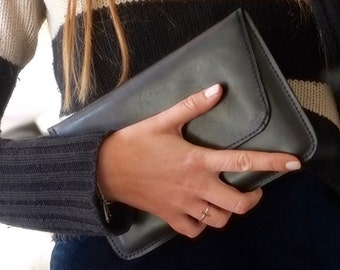 ipad mini leather case, black i pad mini cover, leather clutch, i-pad leather sleeve, black leather case