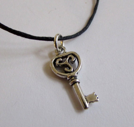 Key Charm On Wax Cord  Adjustable Unisex Free UK Shipping + Gift Bag