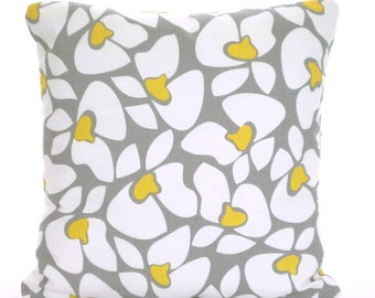 Gray Yellow Decorative Throw Pillow Covers, Cushions, Corn Yellow Storm Grey, Couch Bed Pillows, Euro Sham, Cushions, One or More All Sizes