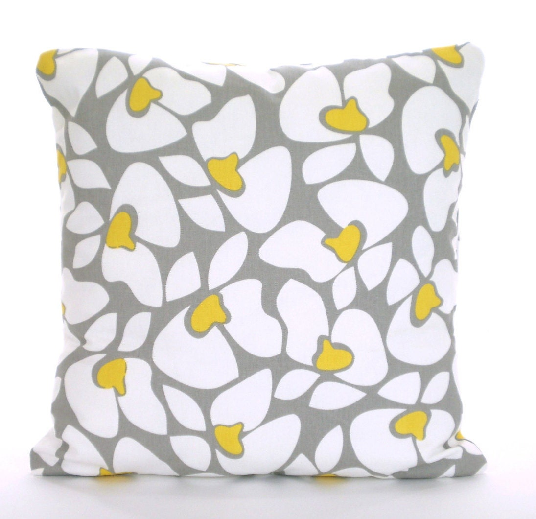 Yellow And Grey Throw Pillow Covers : Gray Yellow Decorative Throw Pillow Covers Cushions Corn