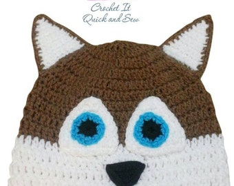 Crochet Husky Beanie