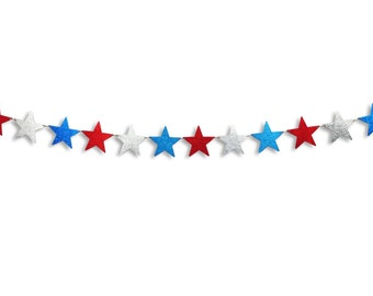 Star Banner, Star garland, Happy 4th of July banner, Happy 4th of July garland, 4th of July decoration, Star decoration