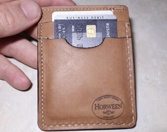 Genuine Horween Latigo 101 leather wallet Montelli card and cash holder