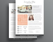 Media Kit Template - 2 Page Media Kit Template - Ad Rate Sheet Template - Press Kit - Pitch kit
