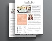 Media Kit Template - 2 Page Media Kit Template - Ad Rate Sheet Template - Press Kit - Pitch kit