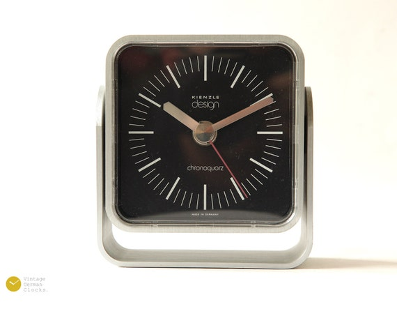 kienzle bauhaus desk clock mid century atomic modern panton