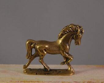 Vintage brass horse statue ,miniature  horse