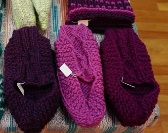 Slippers, wool. Size 8-9, 38-39