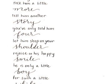 Sweet Baby Boy Poem for the Nursery