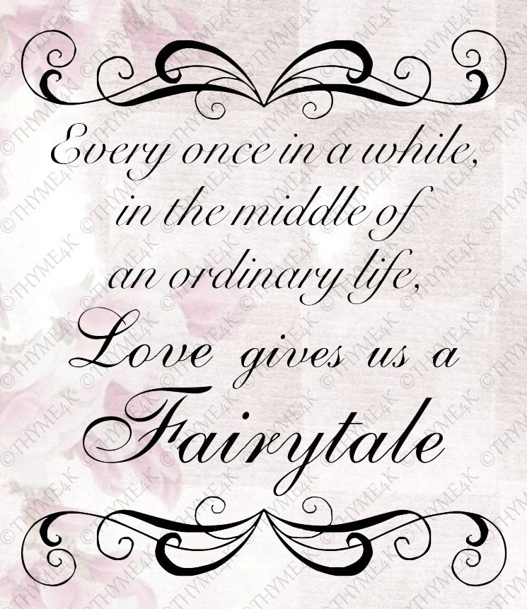 """Download Cutting File SVG """"...Love gives us a Fairytale"""" Quote ..."""