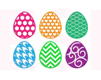 Easter svg, Patterned Easter Egg designs, SVG, DXF & EPS, Vinyl Cut Files, svg cutting files, for Silhouette and Cricut Explore machines