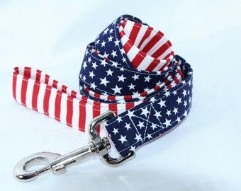 LEASH - Glory American Flag 4th of July Leash Lead
