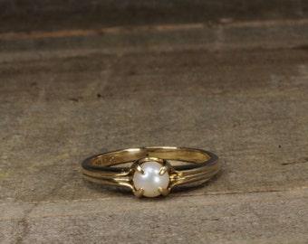 Estate, 14K Yellow Gold Pearl Ring
