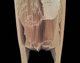 Westie, West Highland Terrier - DIY Book folding pattern - 208 folds /416 pages