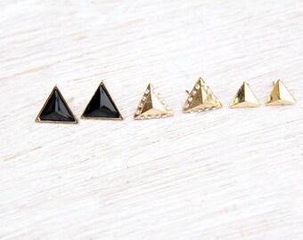 Triangle Earrings, Triangle Stud Earrings, Triangle Studs, Geo Earrings, Geo Stud Earrings, Earrings, Stud Earrings, Earrings, Earring Set