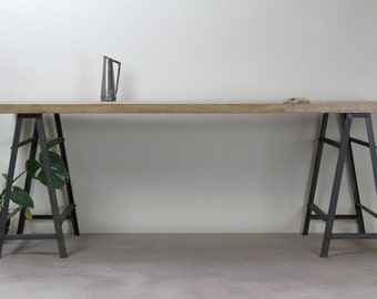 KONK! - Industrial Style Oak/Steel Desk [Bespoke sizes available!] Table, Writing desk