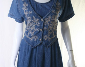 80s denim dress