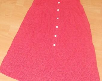 Vintage Polka dot red high waisted skirt Size M