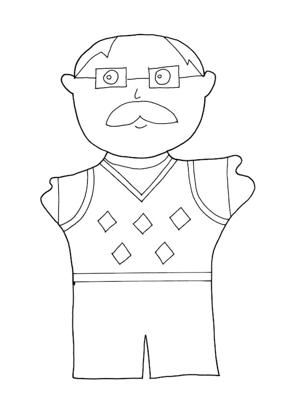 grandfather coloring page grandparents by feltforadults on