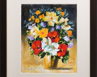 Flowers painting, Giclee art print, Oil Painting print, Floral Still life, Living room wall decor, Modern artwork, Colorful Floral art print