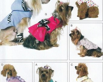 Dog Clothes Sewing Pattern, Dog Jacket Pattern, Dog Clothing, Pet Clothes Sewing Pattern, Uncut Sewing Pattern, McCalls Crafts M6218