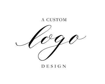 Custom Calligraphy Logo; Hand Lettered Personalized Business Logo Design