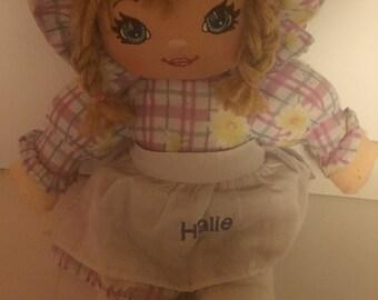 "Cute! 10"" sweetie mine doll, stuffed cloth doll, 1995"