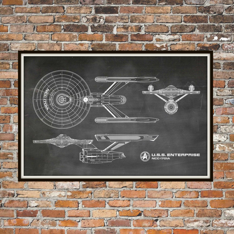 Star Trek Bathroom Accessories Star Trek Enterprise Blueprint Art Of Uss Enterprise