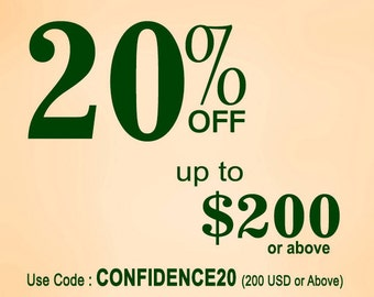 SALE-20% OFF upto 200 USD or Above