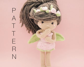 Amigurumi crochet doll - Ava-Rose crochet doll PATTERN ONLY (English)