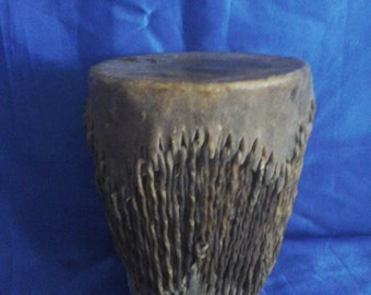 African Large Hand Rattle Drum Double Ended