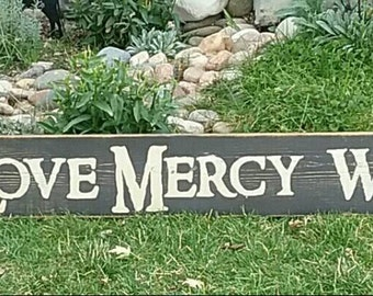 Act Justly Love Mercy Walk Humbly Wood Sign