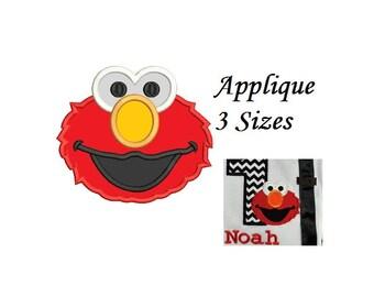 Elmo Applique Embroidery Design - 3 sizes - instant download
