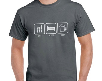 Eat Sleep Beer Funny T-Shirt Gift