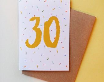 30 birthday card // Greeting card