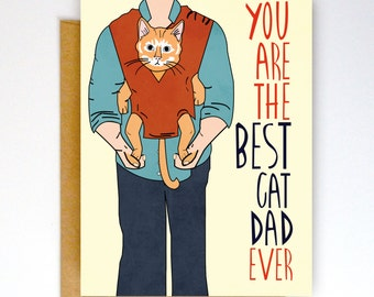 Funny Valentines Day Card, Father's Day Card, Love Card, Cat Dad Card, Cat Card, Funny Cat Card, Love Card, Valentine Card, Card from Cat
