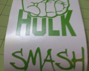 Hulk Smash vinyl decal/Ready to ship in one day