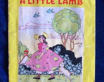 1941 Mary Had a Little Lamb Nursery Rhyme Book Pub. Platt & Munk Paperback