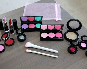 Extra Large Pretend Makeup Set For Your Munchkin - Play Makeup - Looks Real - Makeup Vanity Set - Makeup Brush Set - Flower Girl Gift