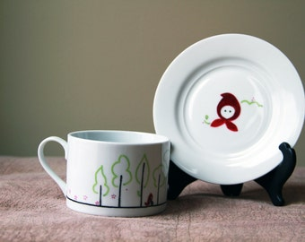 Red Riding Hood Tea Cup & Saucer