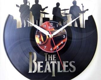 Vinyl wall clock - The Beatles band