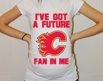 Calgary Flames Baby Calgary Flames Baby Boy Baby Girl Maternity Shirt Maternity Clothing Pregnancy New Baby Shower